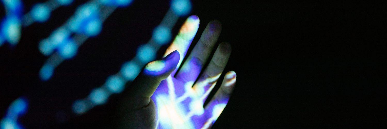 Glowing hand